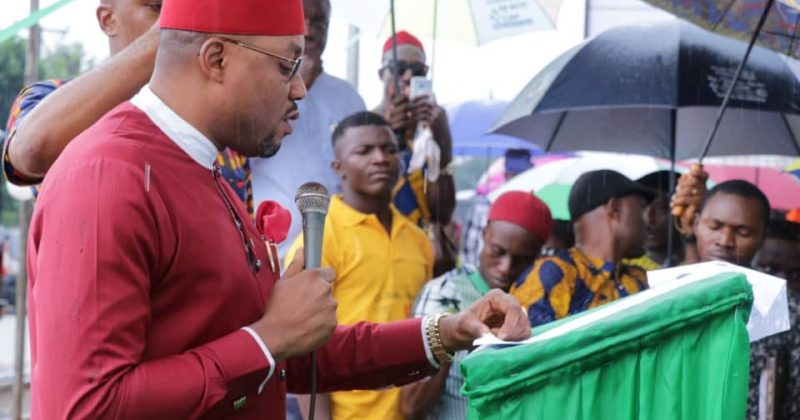 Ibezi Delivers Speech at Commissioning of his Constituency Offices